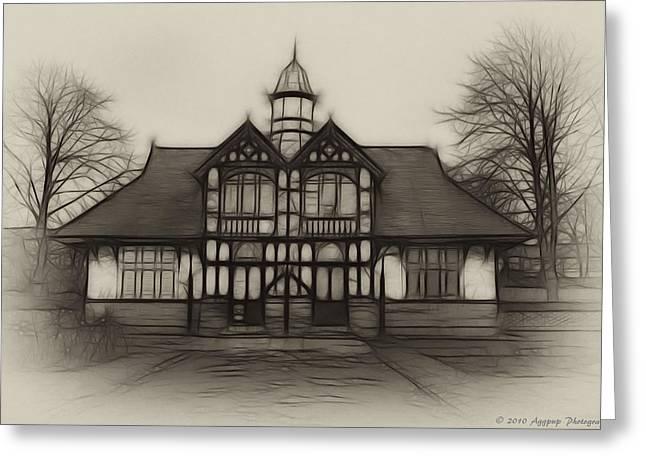 Fractal Pavilion Greeting Card by David J Knight