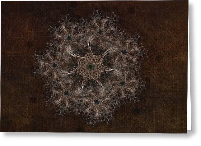 Fractal Tapestry Greeting Card by AGeekonaBike Fine