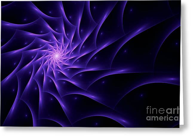 Fractal Web Greeting Card by John Edwards