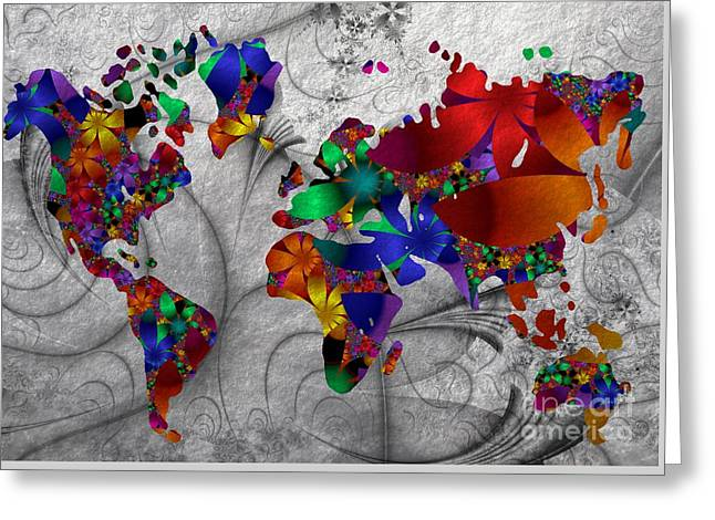 Fractals And Flowers Everywhere Greeting Card