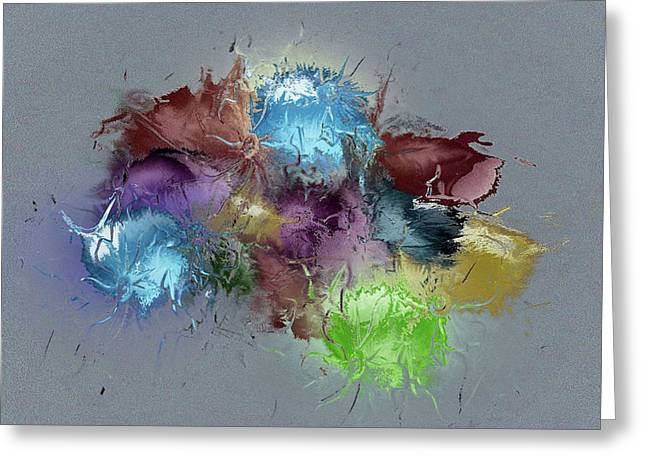 Fractured Bouqet 1 Pc Greeting Card