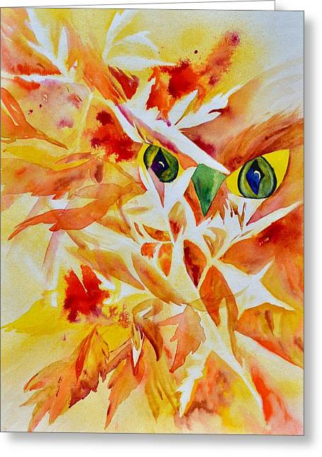 Fractured Lucidity Greeting Card by Beverley Harper Tinsley