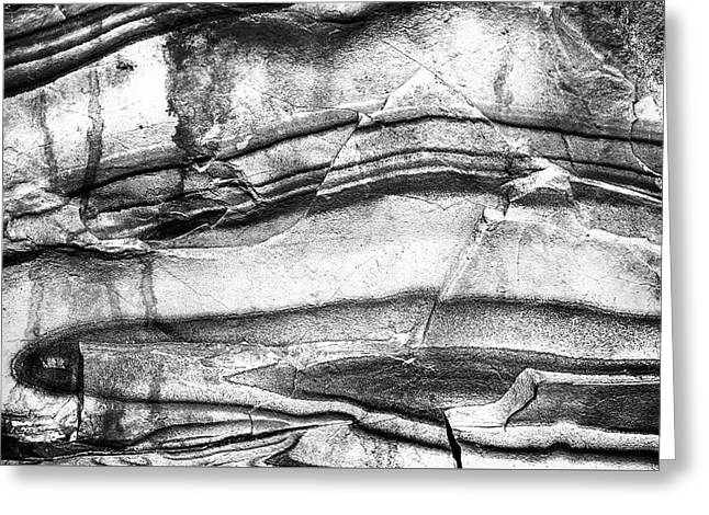Fractured Rock Greeting Card by Onyonet  Photo Studios