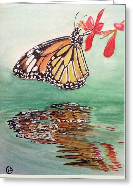 Fragile Reflection Greeting Card by Annie Poitras