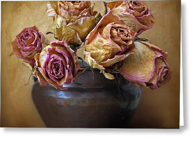 Fragile Rose Greeting Card by Jessica Jenney