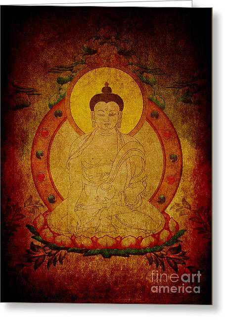 Fragmentary Thangka Greeting Card