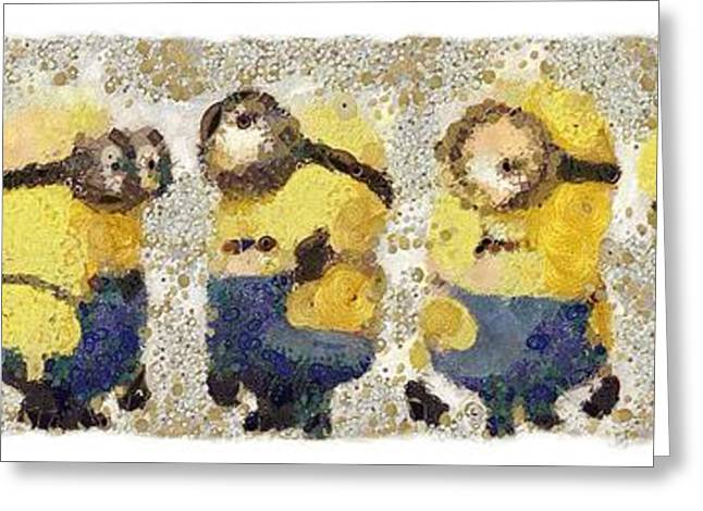 Fragmented And Still In Awe Congratulations Minions Greeting Card