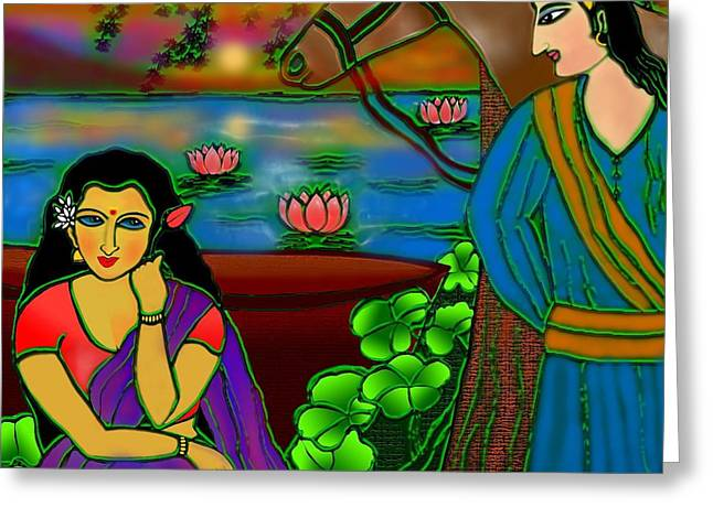 Fragrance Of Magnolias Greeting Card by Latha Gokuldas Panicker
