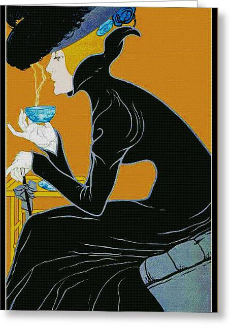 Fragrant Brew 1905 Greeting Card by Padre Art