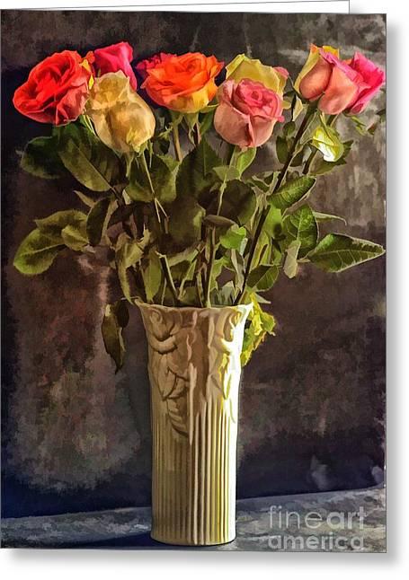 Fragrant Flowers Greeting Card by Arnie Goldstein