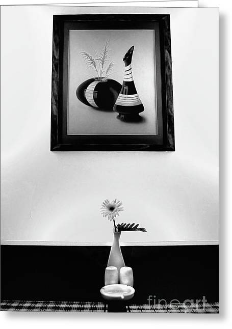 Frame And Flower Greeting Card by Charuhas Images