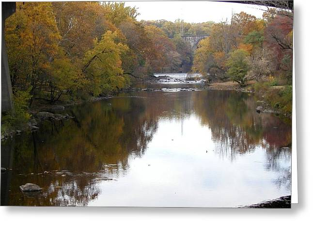 Framed Autumn River Greeting Card