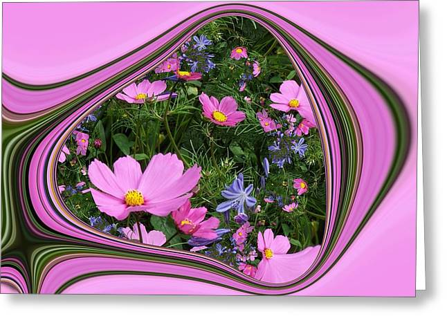 Framed Cosmos Greeting Card