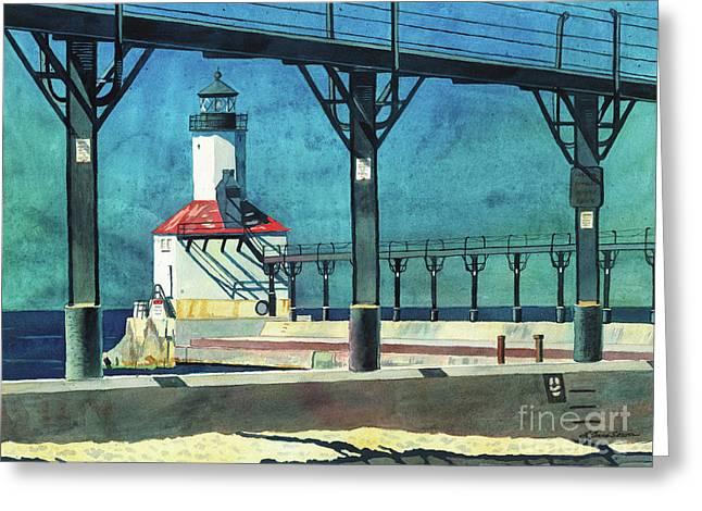 Framed Lighthouse Greeting Card