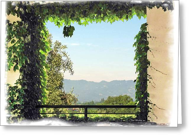 Greeting Card featuring the photograph Framing Napa Valley by Joan  Minchak