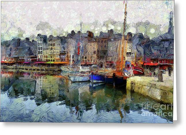 Greeting Card featuring the photograph France Fishing Village by Claire Bull