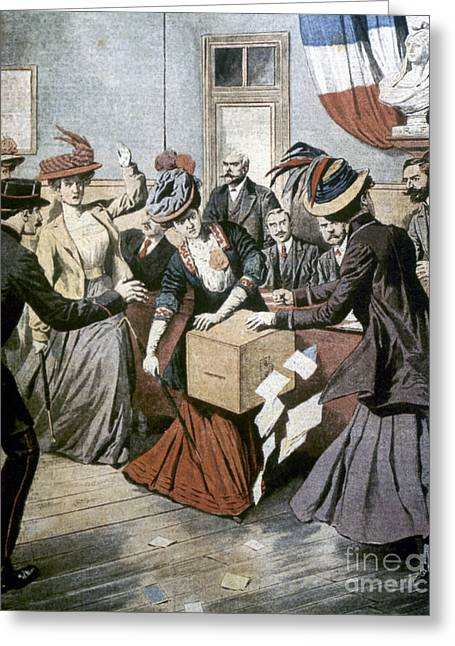 France: Suffragettes, 1908 Greeting Card by Granger