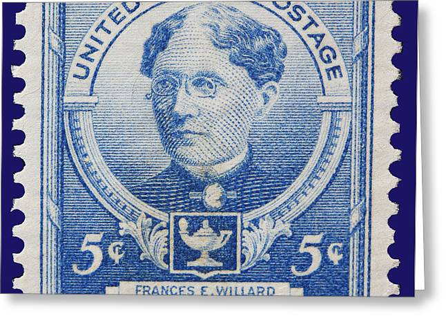 Frances E Willard Postage Stamp Greeting Card by James Hill