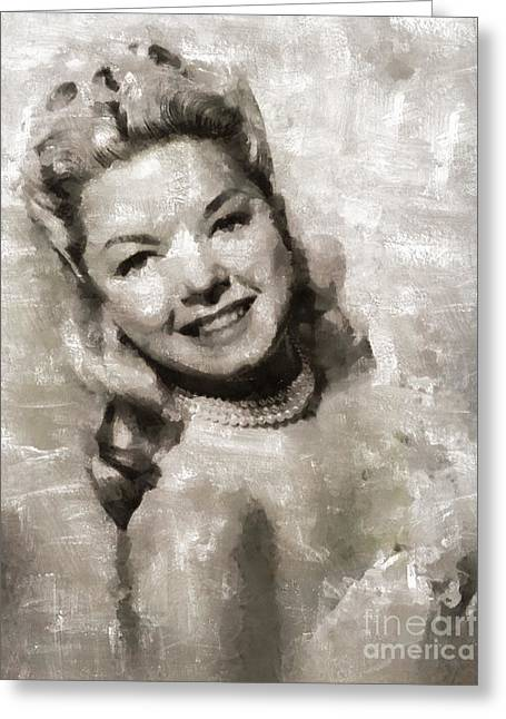 Frances Langford, Actress Greeting Card