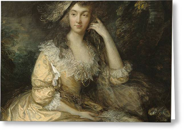 Frances Susanna Lady De Dunstanville Greeting Card by Thomas Gainsborough