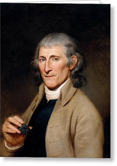 Francis Bailey Greeting Card by Charles Willson Peale