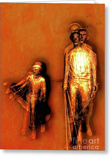 Francis D. Ouimet And Caddy Greeting Card by Bob Pardue