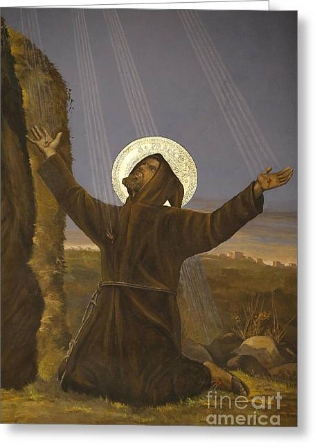 Francis Of Assisi Receives The Stigmata Greeting Card