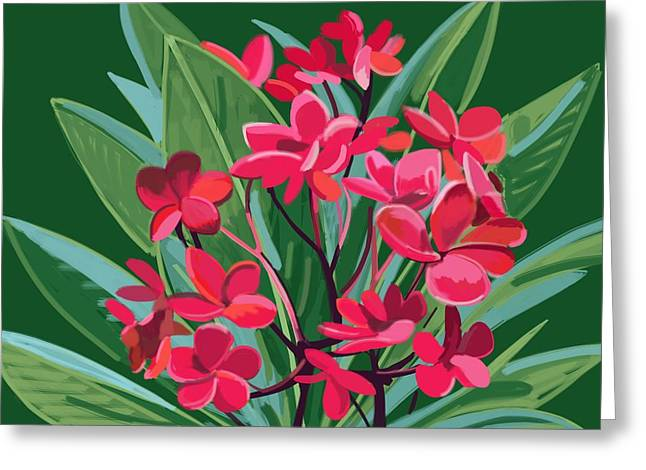 Frangipani, Canterbury Road Greeting Card by Plum Ovelgonne