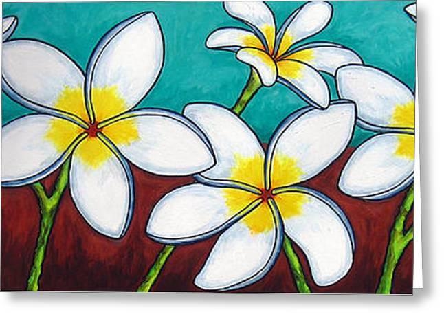 Frangipani Delight Greeting Card by Lisa  Lorenz