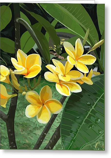 Frangipani Greeting Card