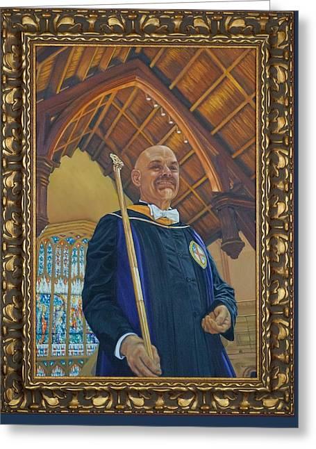 Frank Bellamy At St. John's Cathedral Greeting Card by Mitzisan Art LLC