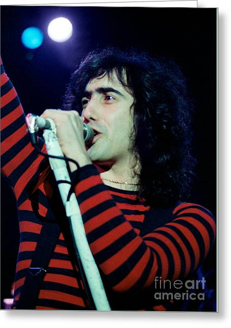 Frank Dimino Of Angel - Cow Palace, S F 5-6-80 Greeting Card
