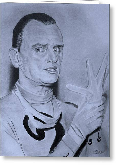 Frank Gorshin The Riddler Greeting Card by Robert Steen