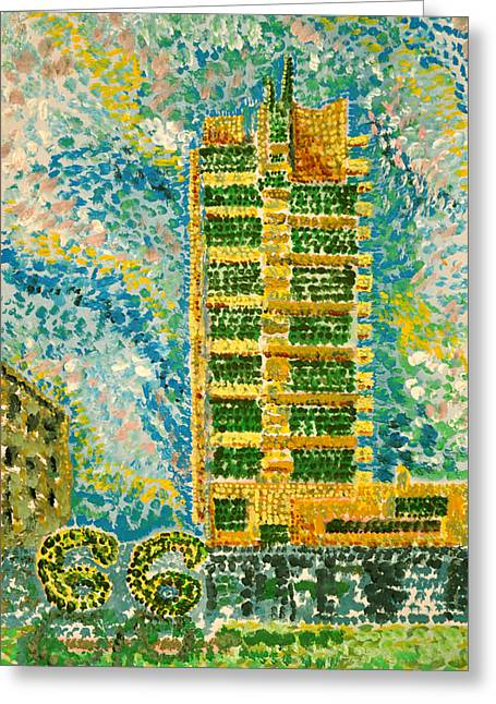 Frank Loyd Wright's Price Tower Greeting Card by Ragon Steele