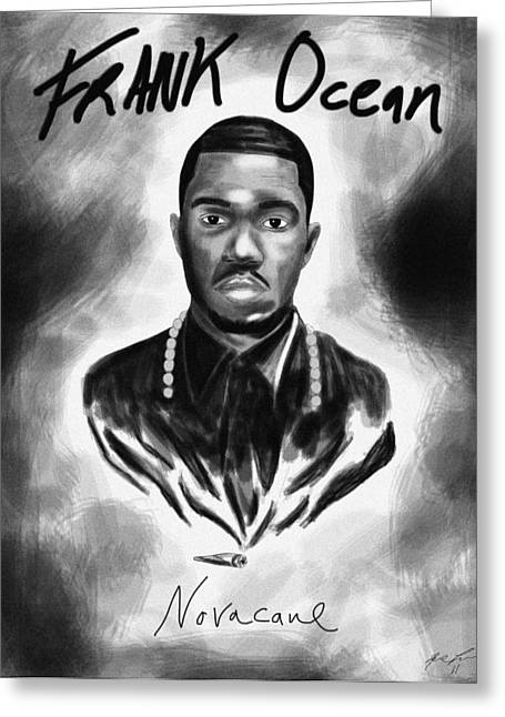 Frank Ocean Novacane Inspired Greeting Card by Kenal Louis