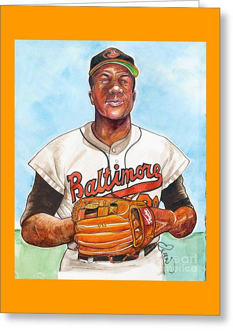 Frank Robinson Greeting Card by Dave Olsen