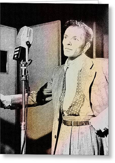 Frank Sinatra 1947 Greeting Card by Ericamaxine Price