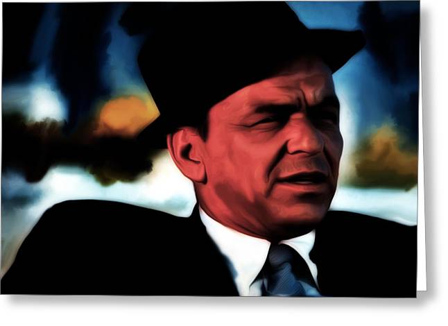 Frank Sinatra 2b  Greeting Card by Brian Reaves