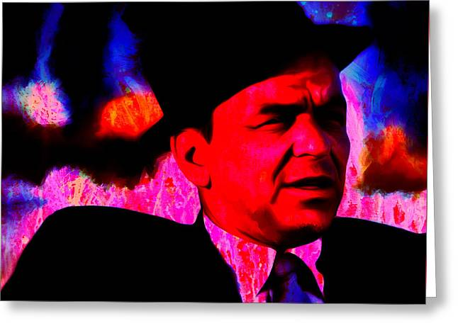 Frank Sinatra 3e Greeting Card by Brian Reaves