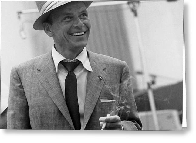 Frank Sinatra - Capitol Records Recording Studio #3 Greeting Card by The Titanic Project