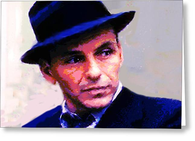 Frank Sinatra  Greeting Card by Enki Art
