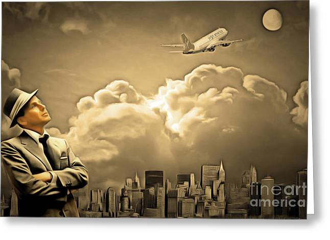 Frank Sinatra Fly Me To The Moon 20170506 V2 Greeting Card