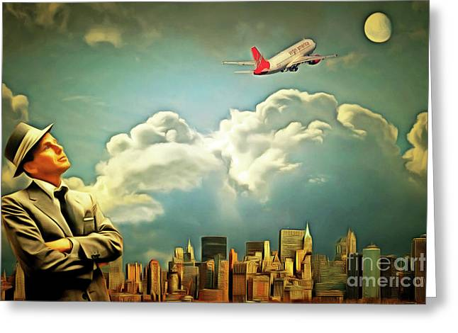 Frank Sinatra Fly Me To The Moon 20170506 Greeting Card