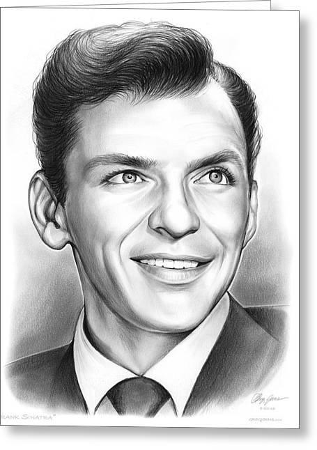 Frank Sinatra Greeting Card by Greg Joens