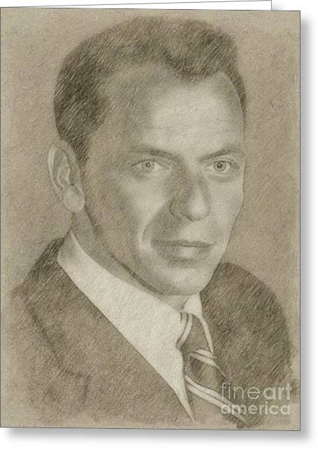 Frank Sinatra Hollywood Singer And Actor Greeting Card by Frank Falcon