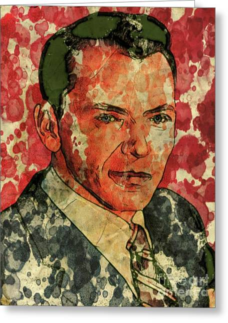 Frank Sinatra Hollywood Singer And Actor Greeting Card