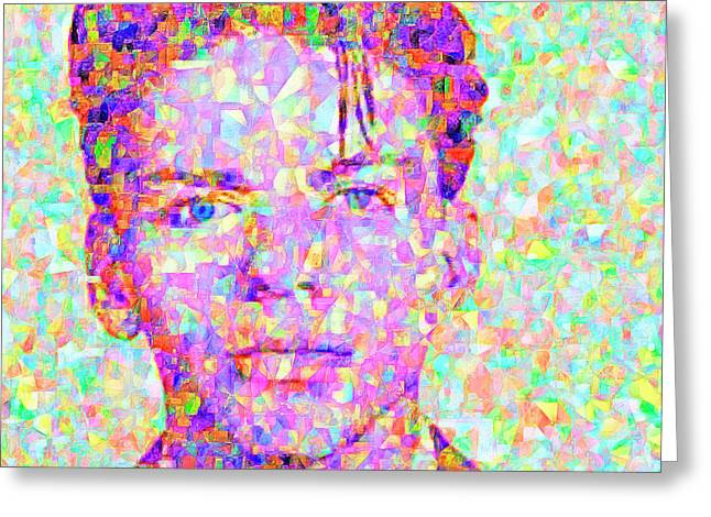 Frank Sinatra In Abstract Cubism 20170404 Greeting Card