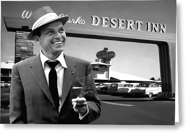 Frank Sinatra In Las Vegas Greeting Card