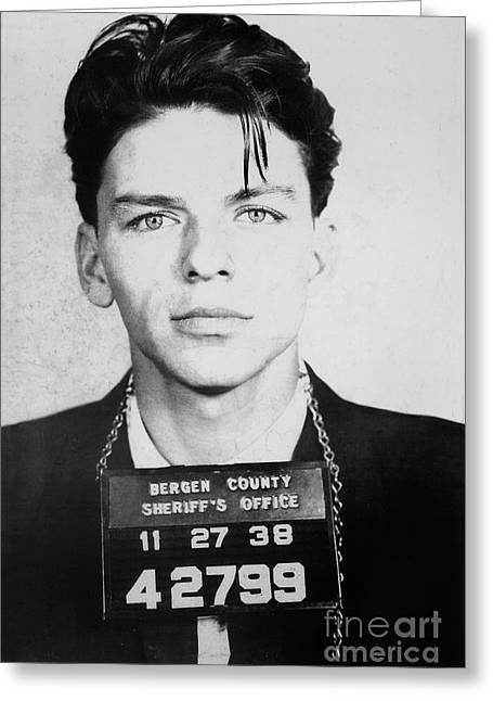 Frank Sinatra Mugshot Greeting Card