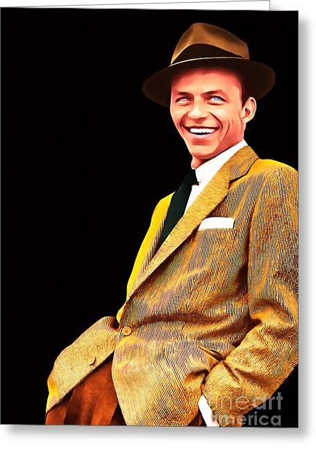 Frank Sinatra Old Blue Eyes 20160922v2 Greeting Card